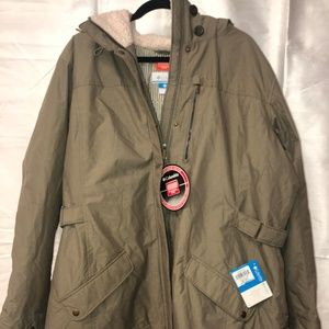 Columbia 2X Army green thermal coil coat